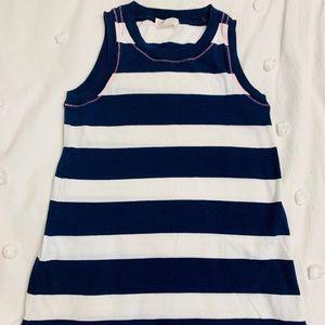 Crewcuts Girls sz 4 Navy and White Striped Dress